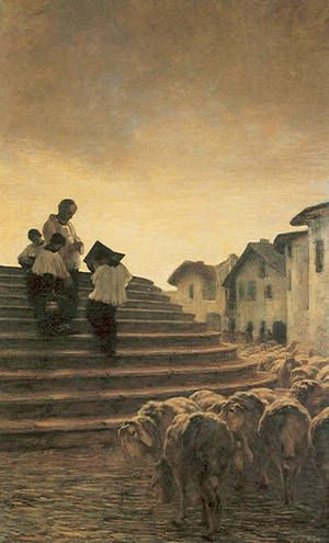 La benedizione delle pecore (1884) - Segantini Giovanni