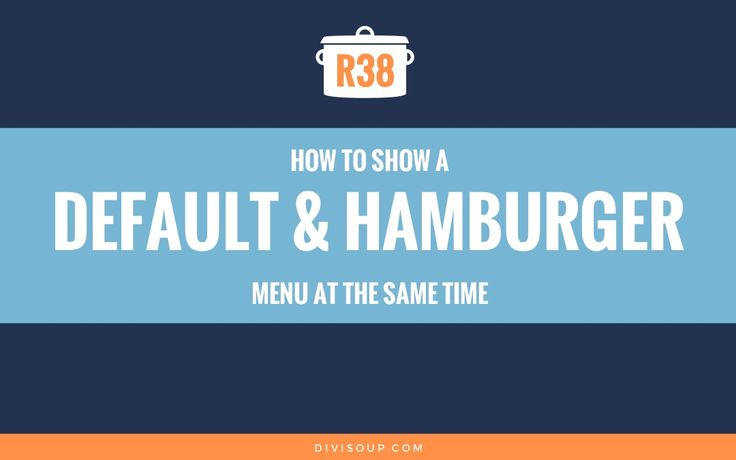 In this Divi recipe I will show you how to display a default styled menu along with a hamburger menu at the same time. If you need to create a site that utilises two menus, this solution using the built in Divi options, minimal code and no plugins is for you.