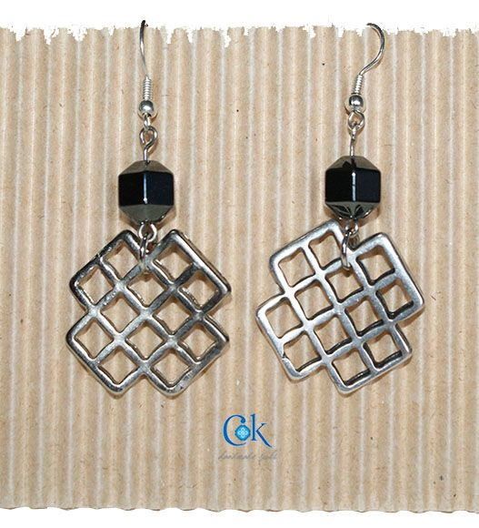 Metallic X earrings (286)