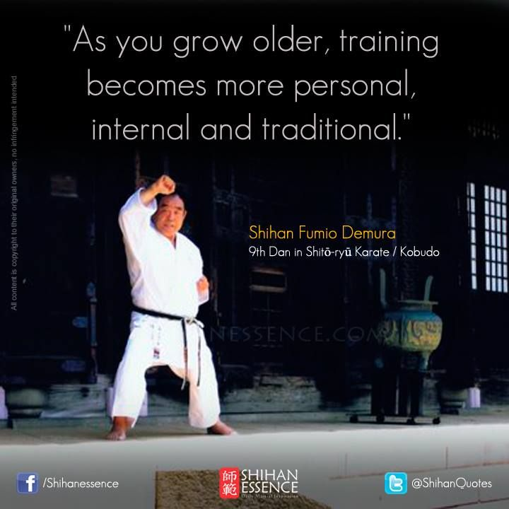 martial arts mentality and inspiration