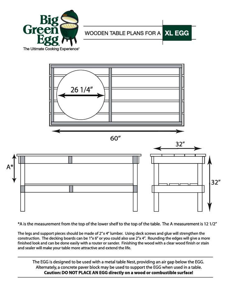 DIY BBQ(Big Green Egg) Table