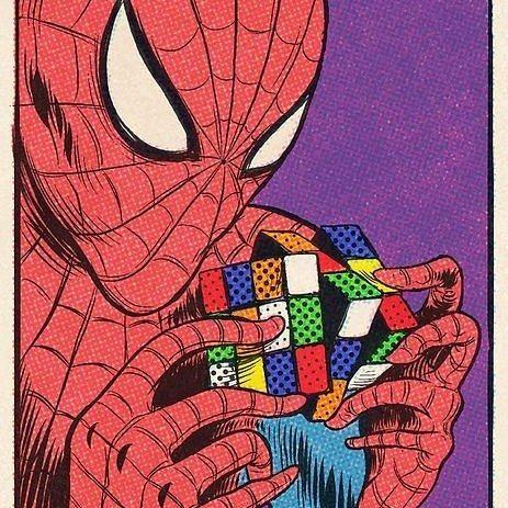 """Cuando Spiderman realizó el cubo de rubik dijo """"un poder conlleva una gran responsabilidad"""" y por eso lo hizo... Creo que era así no estoy seguro...  _ Últimos días de promoción consigue hasta 3 regalos  en nuestra tienda online Maskecubos.com y ENVIO GRATIS  _ Nos gustan  #shengshou #cuborubik #Rubik #puzzle #speedcube #rubikscubes #cubosmagicos #magiccubes #magic #toy #juguete #toy #juguetes #moyu #qiyi #speedcubing #speedcuber #cuber"""