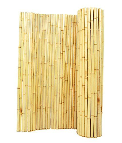 Decorative Fences - Backyard XScapes BAMABF02 Natural Rolled Bamboo Fence 34 D x 6 H x 6 L * Find out more about the great product at the image link. (This is an Amazon affiliate link)