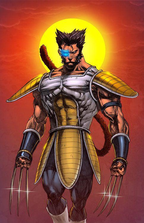 Sayajin Logan - Wolverine by Miguel Mendonça, colours by Steven Oaks