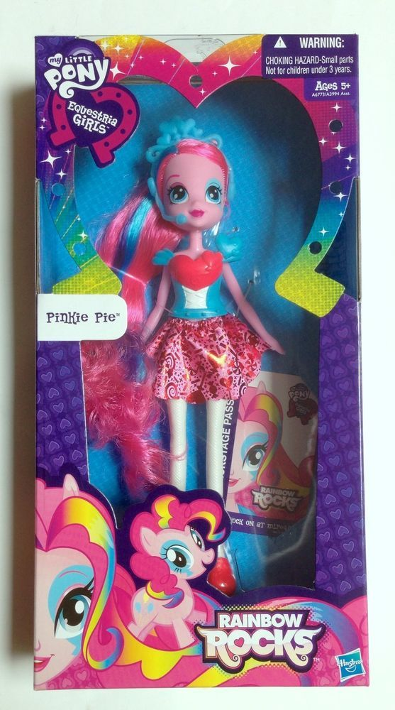 My Little Pony Equestria Girls Rainbow Rocks Basic Pinkie Pie Fashion Doll NIP #Hasbro