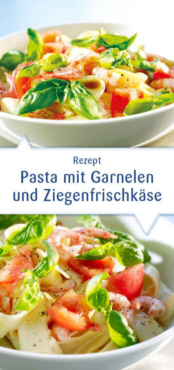 Diese Pasta mit Garnelen wird dank Snøfrisk Ziegenfrischkäse super cremig und sahnig – ganz ohne Soßenbinder. Probiert es mal! Helle Soßen bekommen mit Snøfrisk die perfekte Abrundung. Dieses Rezept und mehr unter http://www.snofrisk.de/rezepte.php