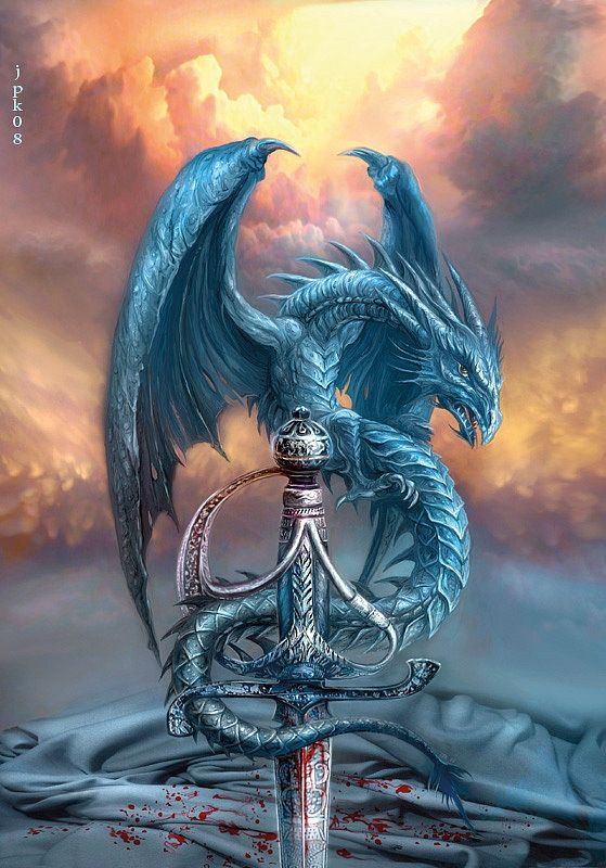 Dragon and Sword by Jan Patrik Krasny - sci-fi and fantasy book covers gallery