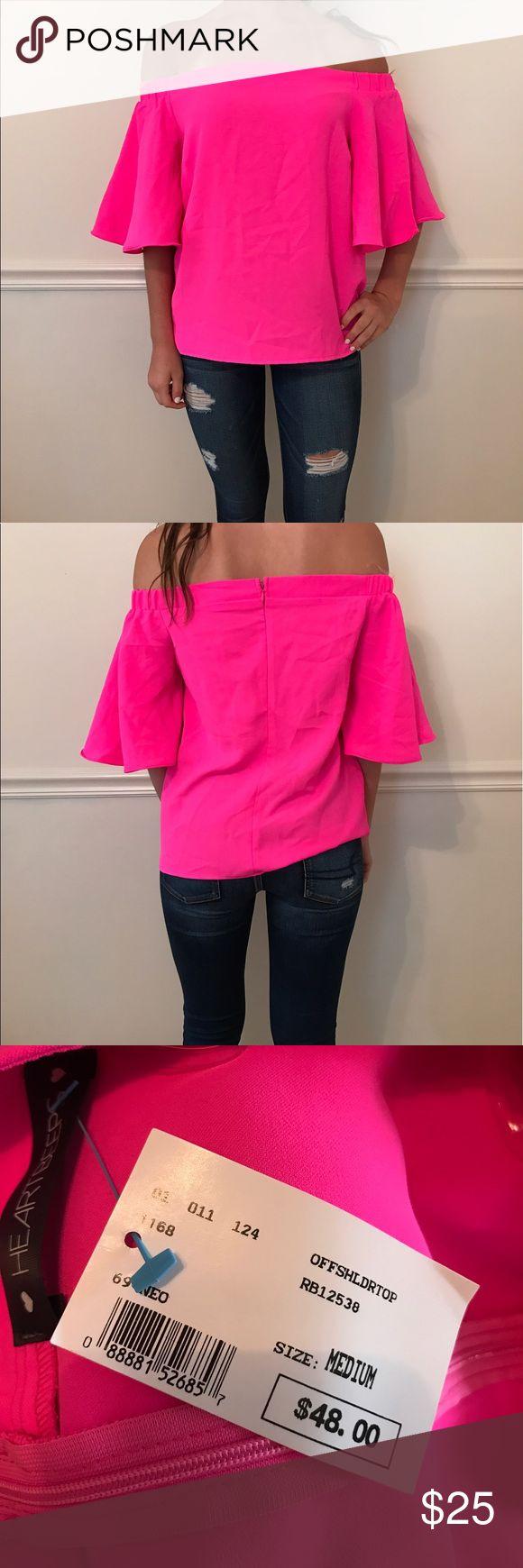 Hot pink summer shirt Brand new Tops Blouses