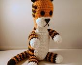 "Boy's Room - Calvin & Hobbes decor - PDF pattern ""Harold"" the tiger plush doll crochet £3.00"