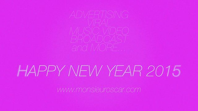 Happy New year 2015 by Monsieur Oscar
