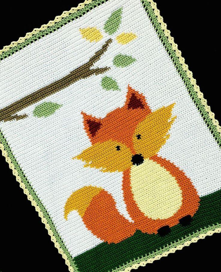 Crochet Patterns - FOX WOODLAND/FOREST Baby Afghan Pattern *EASY* #KarensCradleCreations #Afghan