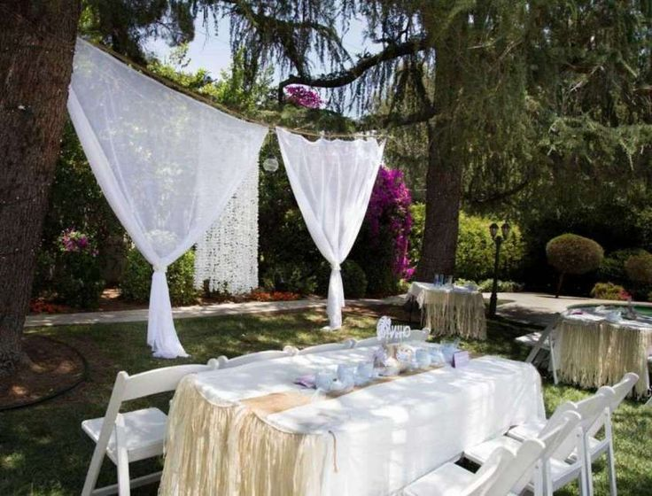 Bodas al aire libre: fotos ideas decoración - Ideas con cortinas para decorar bodas al aire libre