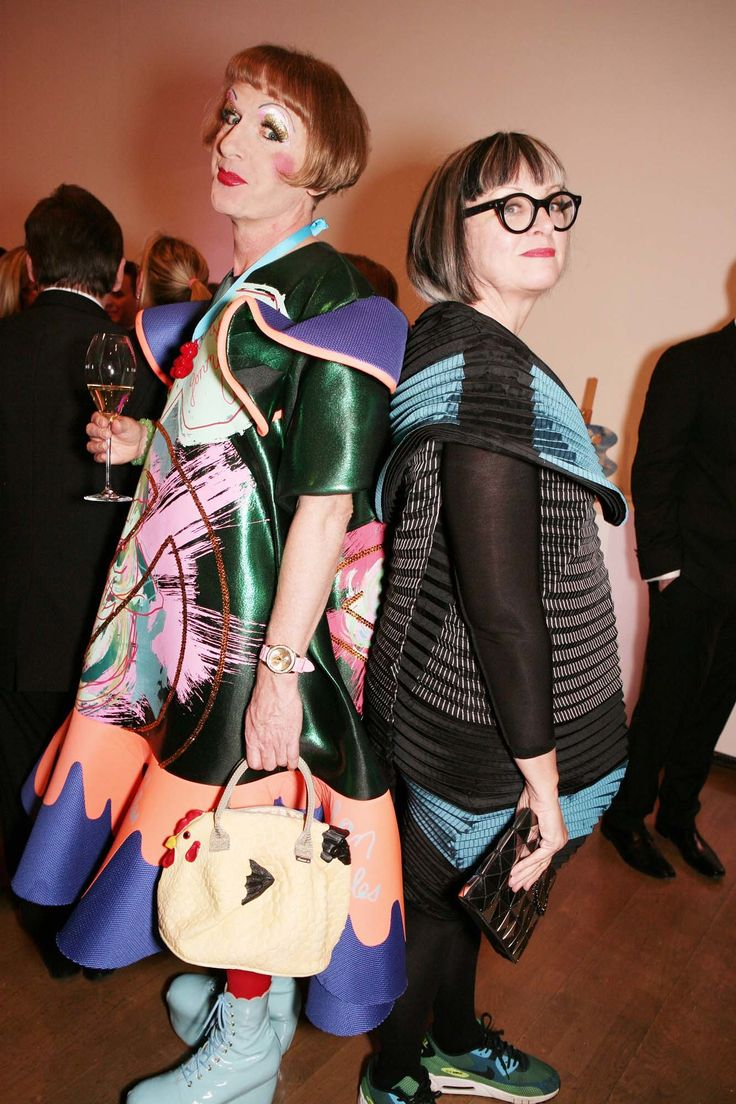 Who: Grayson and Philippa Perry Known for: Mrs. Perry is an authoress and psychoanalyst; Mr. Perry makes ceramics when he's not stepping out in cross-dress as his alter-ego, Claire. The Look: OTT gender-bending sartorial excess