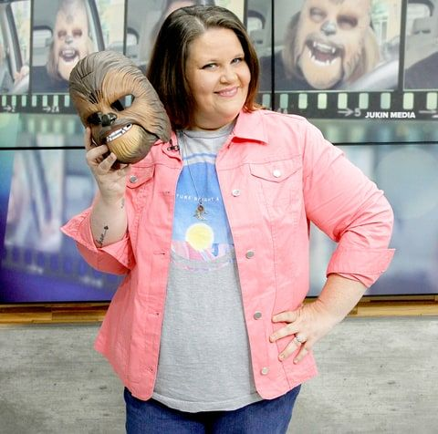 Candace Payne, Chewbacca Mom Rides a Bike With Beloved 'Star Wars' Character at Facebook Headquarters