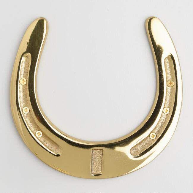 Brass Horseshoe Decor Horseshoe Decor Gold Home Accessories