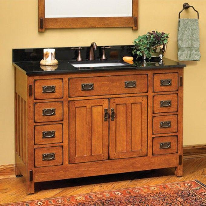 "48"" American Craftsman Vanity for Rectangular Undermount Sink - Bathroom"