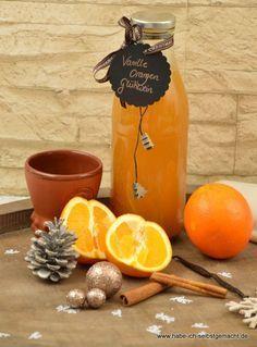 Weißer Vanille Orangen Glühwein auch als Geschenkidee