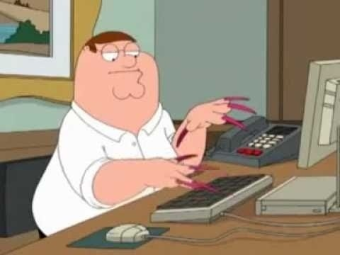 Hahahahaha Peter Griffin I got 3 ppl on hold but I can talk! Haha