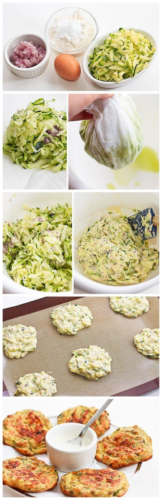 Super Yummy BAKED Zucchini Fritters - Healthy, Can be vegan, vegetarian, gluten free @nicklise here you go darlin :) enjoy!