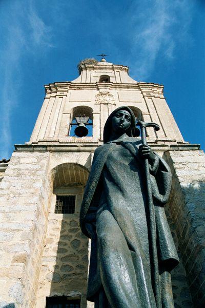 St Teresa Of Avila Spain | Statue of St. Teresa of Avila outside her convent in Avila, Spain Path ...