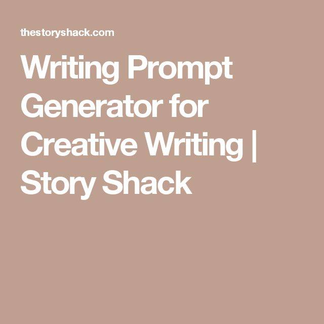 creative writing plot generator I've found some fantastic online story and character writing prompts for kids and idea generators for kids and plot ideas in creative writing.