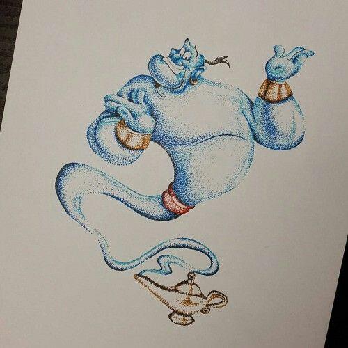 Aladdin genie tattoo                                                                                                                                                                                 More