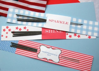 Sparkler holders for Fourth of July - so clever!