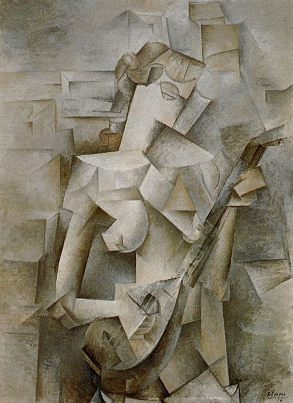 Pablo Picasso. Girl with a mandolin. 1910