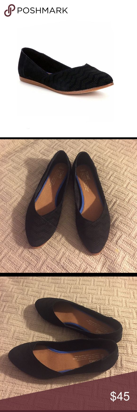 Toms Jutti Chevron Flats Beautiful flats and only worn once. Love these shoes, but they don't fit me 😔 TOMS Shoes Flats & Loafers