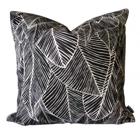 Bonfire Black Domino cushion - hardtofind.