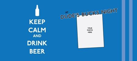 keep calm - bucks stubby holder