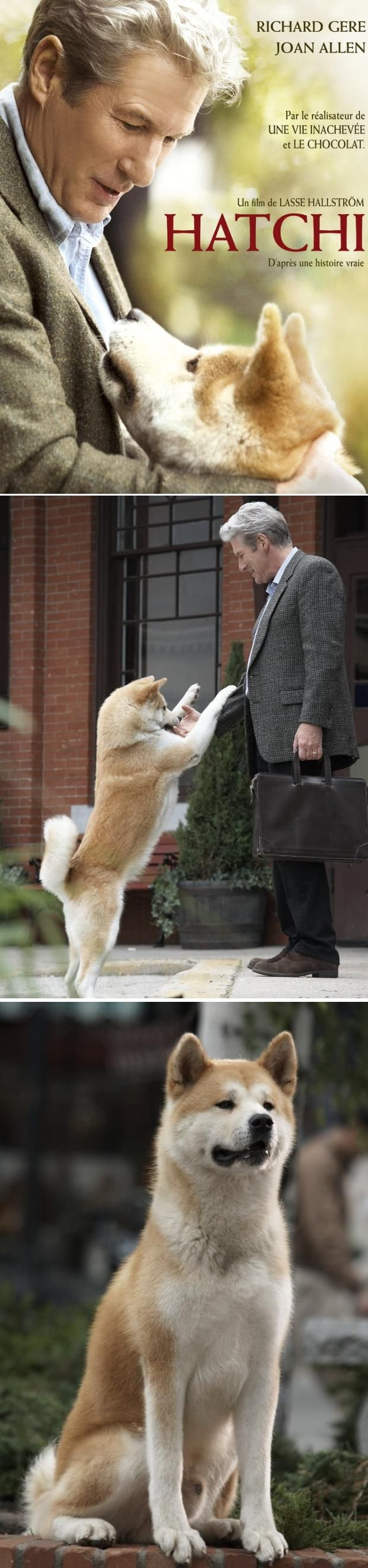 'Hatchi' a true story.  Hatchi waited at the train station for nearly ten years for his master to return from work. Starred Richard Gere.