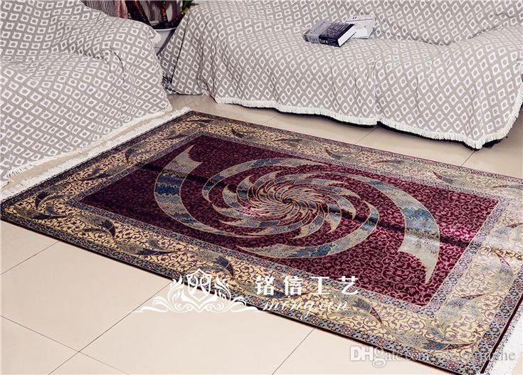 Mingxin Carpet 5×7.5 feet Oriental silk carpet red handmade exquisite Turkish silk rug living room decation