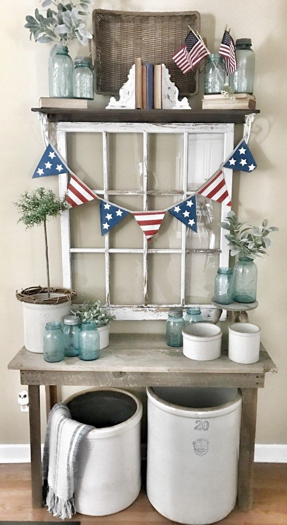 4th Of July Living Room Decor Ideas | Bless This Nest Old Window Ideas