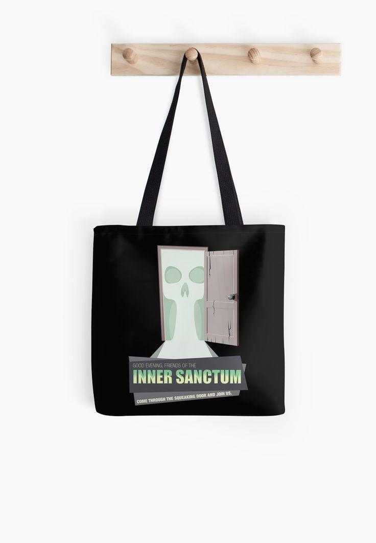 Inner Sanctum Tote Bag #totebag #arttotebag #purse #bag #OTR #oldtimeradio #innersactum #innersanctummysteries #radiodrama #radio