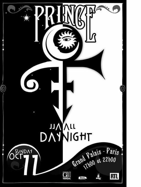 Prince concert poster: