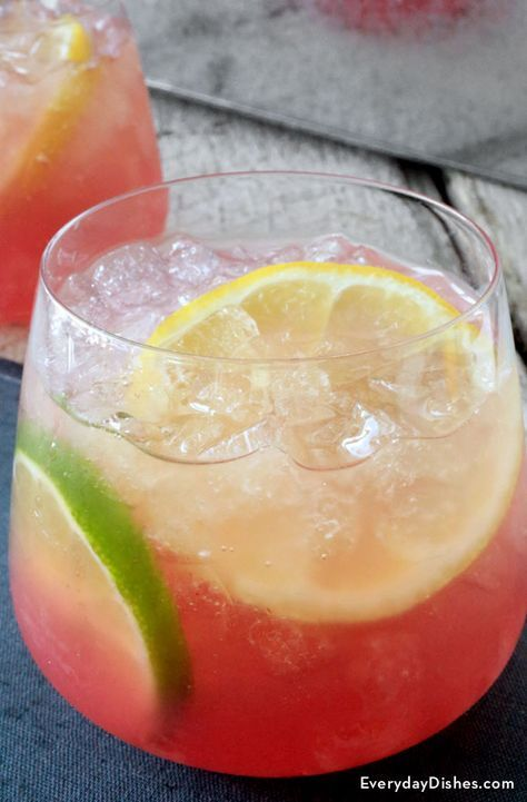 Pink lemonade vodka punch recipe