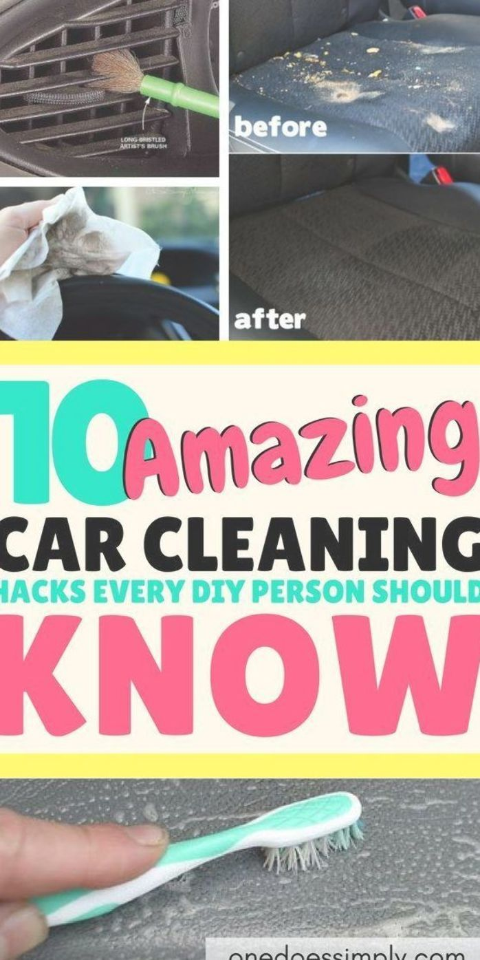 Deep Clean Your Car Easily Using These Diy Car Deep Cleaning Hacks These Genius Tips Are Super Effective To Cle Clean Your Car Cleaning Hacks Diy Car Cleaning