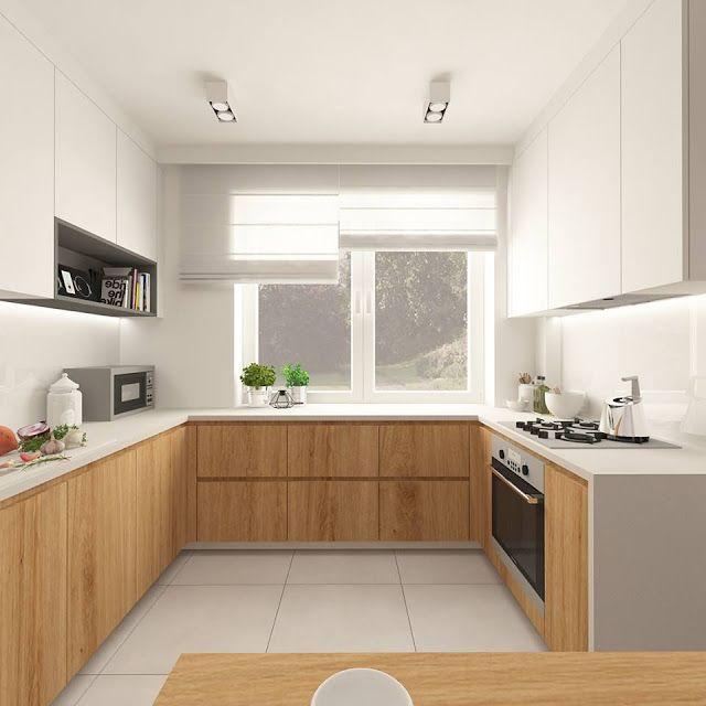 cocina-blanca-y-madera Más