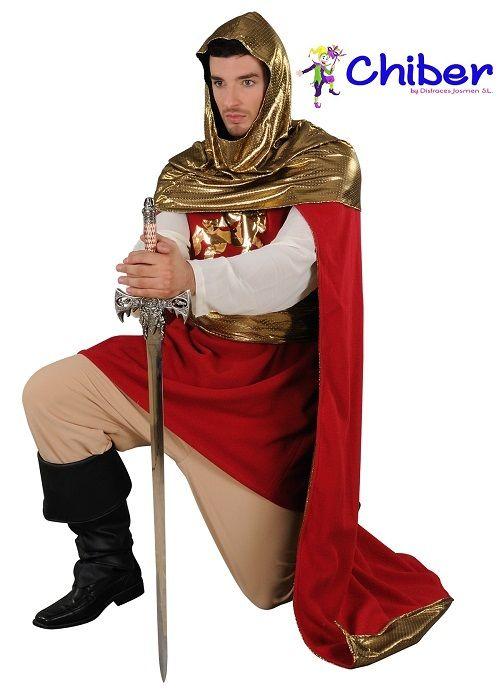 Disfraz de Rey Arturo: El Rey Arturo, héroe de muchos poemas y relatos que datan de los siglos XII y XIII, es un rey de la antigua Britania, cuya existencia tiende a admitirse en la actualidad. Criado por el Mago Merlín, se encontró con una Diosa en un lago, arrancó una espada de una roca, se casó con la hermosa Ginebra, consiguió multitud de victorias en sus batallas y gobernó a principios del siglo VI desde Camelot con sus caballeros de la mesa redonda.