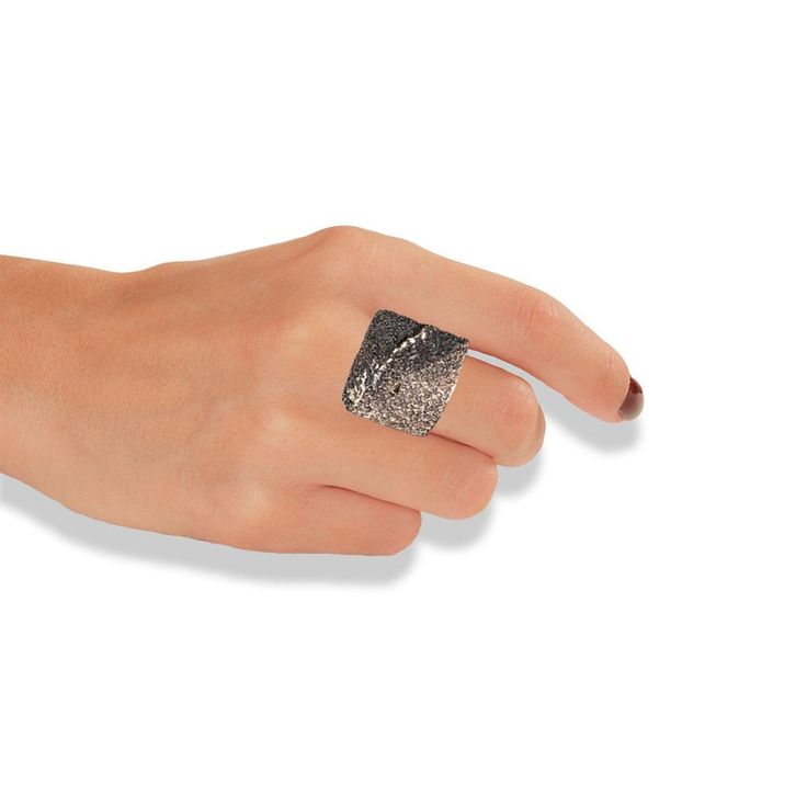 Handmade Bronze Black Shimmering Ring - Anthos Crafts