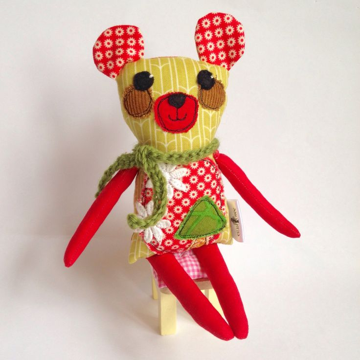 Mini Bear Critter - handmade cloth doll - stuffed animal by EilishTree on Etsy https://www.etsy.com/ie/listing/561469755/mini-bear-critter-handmade-cloth-doll