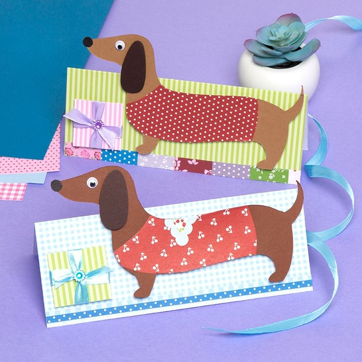 Dachshund greeting card free craft ideas baker ross in