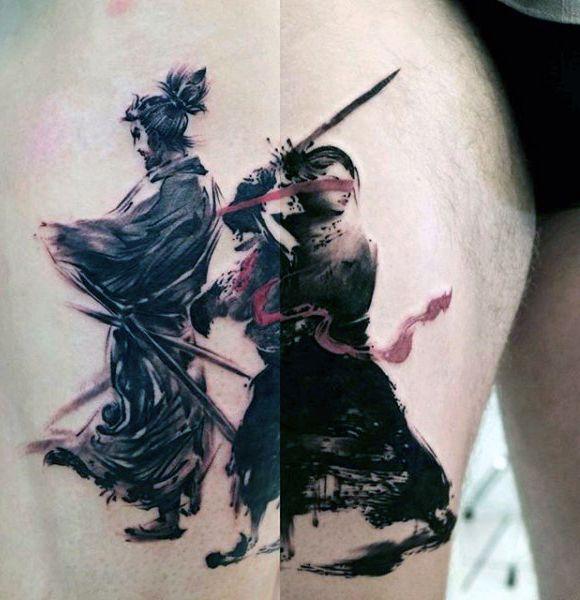 100 Brush Stroke Tattoo Designs für Männer  Gemalte Ideen  Tattoos  Ideen