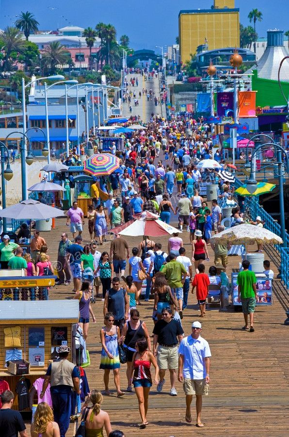 The Santa Monica Pier is next to impossible to get near in summer, but in early spring, you an have it all yo yourself..and it's absolutely amazing!