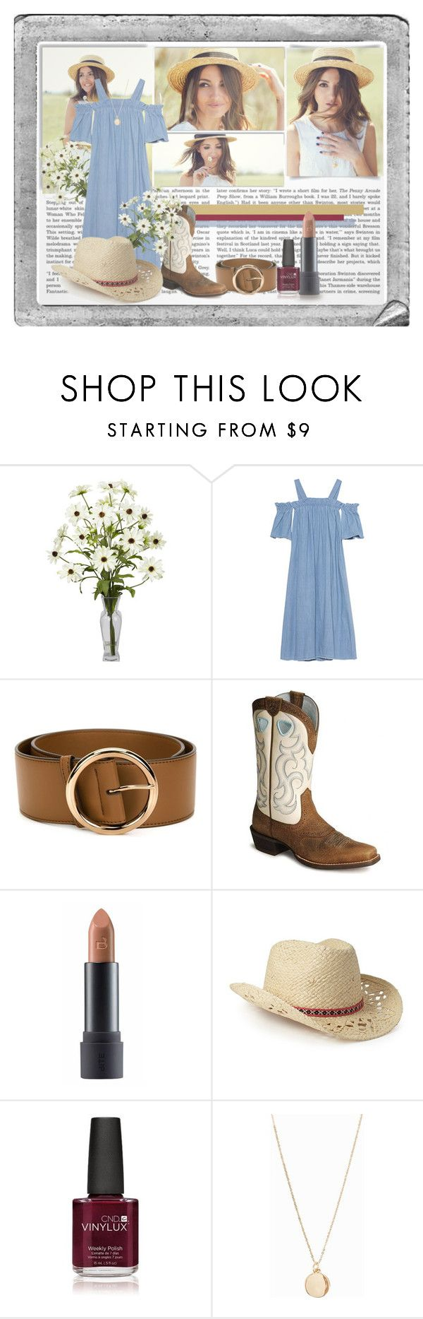 """Cowboy-girl"" by karimaputri on Polyvore featuring Polaroid, White Label, SJYP, STELLA McCARTNEY, Ariat, Bite, Forever 21, Creative and NLY Accessories"