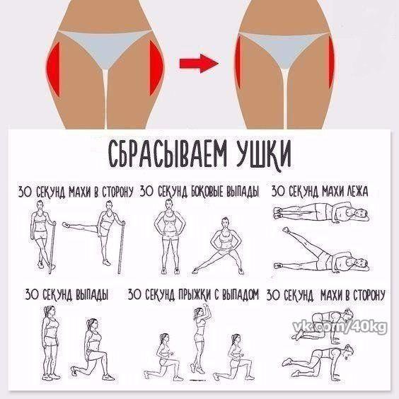 Упражнения Для Похудения Жопы И Ляшек. Упражнения для похудения и подтяжки ног, ляшек и бедер. Пошаговая инструкция для мужчин и женщин