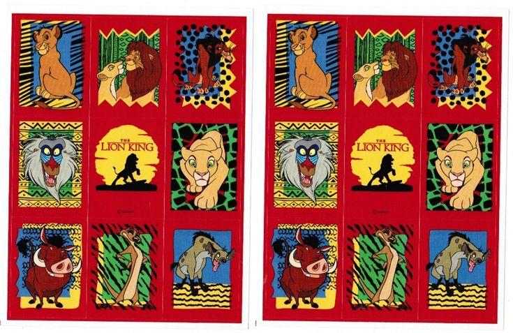 2 Sheets Disney LION KING Scrapbook Stickers! Simba Scar Mufasa Timon Pumbaa | eBay