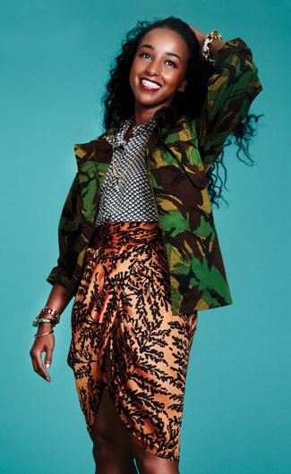 AMINA SAID -- Mixing prints so perfectly!!