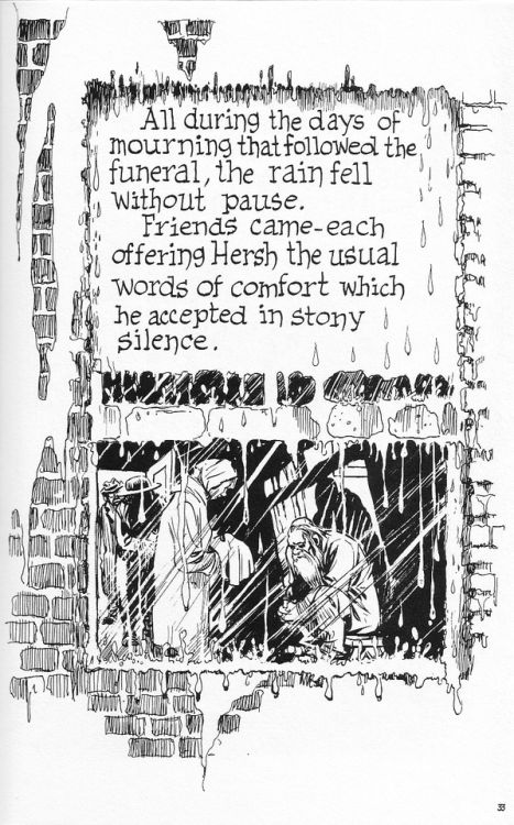 coolpages: A Contract with God and Other Tenement Stories...  coolpages:  A Contract with God and Other Tenement Stories (Baronet Books -October 1978)  Writer/Illustrator:Will Eisner  Masterful use of white space; you can literally feel the cold in this scene.